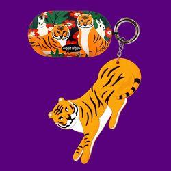 갤럭시 버즈케이스&키링SET - Funky Tiger