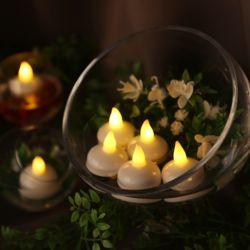 LED 티라이트 12개입 (물에뜨는 촛불) - 웜노랑