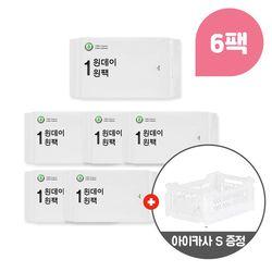 원데이원팩 오버6팩 + 폴딩박스 S White