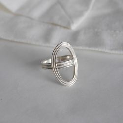 925실버 트리플 에르 반지 triple her ring