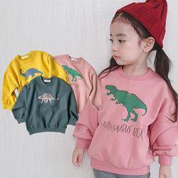 공룡이좋아2 긴팔 맨투맨티셔츠 아동 3컬러중 택1