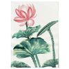 중형 패브릭 포스터 F314 연꽃 식물 그림 행운 액자 연잎 A