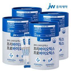 JW중외제약 10억 프리바이오틱스 프로바이오틱스 모유유산균 4통