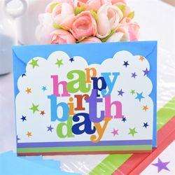 생일파티 카드초대장-12세트 스타