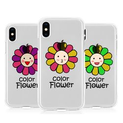 [T]안녕플라워 투명 젤리 케이스.아이폰6(s)