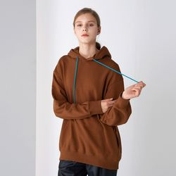COCOON HOOD T-SHIRTS BROWN