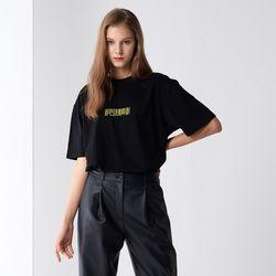 BAR-CODE SIGNATURE T-SHIRTS BLACK