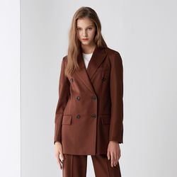 DOUBLE SET-UP JACKET BROWN