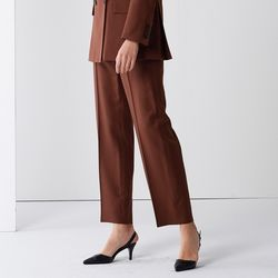 STRAIGHT SET-UP PANTS BROWN