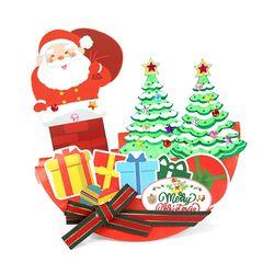 (몽스쿨)KY2009 크리스마스카드 오뚝이산타(4set)