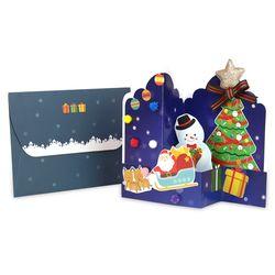 (몽스쿨)KY2004 크리스마스카드 팅클스타(4set)