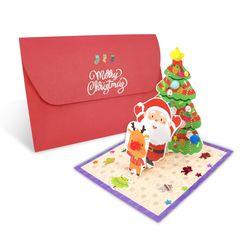 (몽스쿨)KY2003 크리스마스카드 산타친구들(4set)