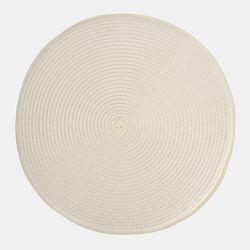 심플 원형 의자패드 화이트(38cm)