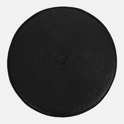 심플 원형 의자패드 블랙(38cm)