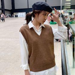 mood wool vest knit