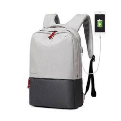 [Picano 정품] 통풍 USB충전 스마트 투톤 백팩