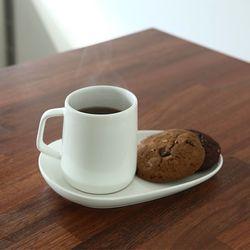 화이트 디저트 커피잔 세트 3 size 2호