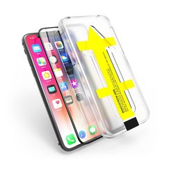 샤론6 아이폰 X XS 강화유리 3D 풀커버 이지 필름