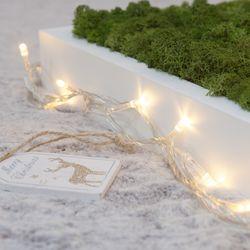 LED 10-50P 건전지용 투명선 트리 전구 장식 TRLEDB