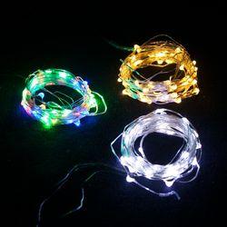 LED 5-50P 건전지용 드럼전구 투명선 전구 TRLEDB