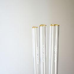 골드 유리빨대 (gold straw)