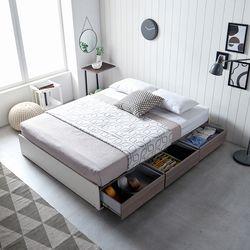 홈잡스 브라이트 수납형 서랍형 평상 침대 슈퍼싱글
