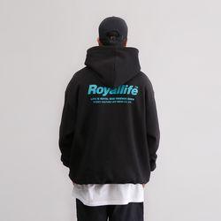 RLPH507 로얄라이프 스트릿컬쳐 로고 후디 - 2컬러