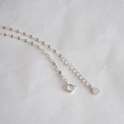 925실버 더블 닷 체인 팔찌 double dot chain bracelet