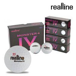 리얼라인 몬스터4 장타 스핀용 밸런스 골프공(3피스 12구)