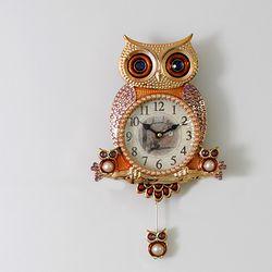 윙클부엉이 추벽시계(골드)