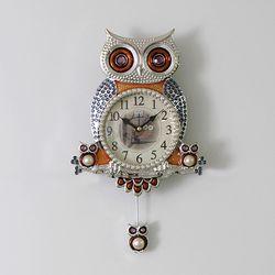 윙클부엉이 추벽시계(실버)