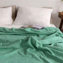 [Fabric] 그린빛 워싱 린넨 Little Cactus Washing Linen