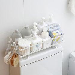 욕실 수납 선반 화장실 정리대 거치식 변기 수납장  화이트