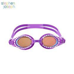 유아 스파클링 물안경(UV차단안티포그) - E 퍼플