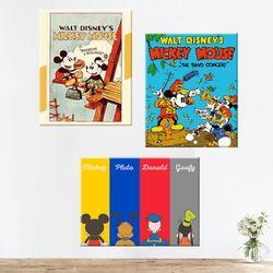 DIY 디즈니 미키마우스 캐릭터 그리기 40x50cm