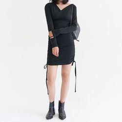 [dress] 브이넥 슬림 원피스