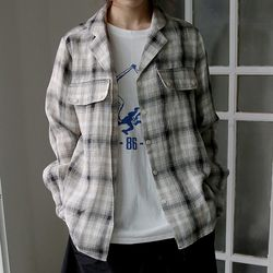 fade check pattern shirts (2colors)