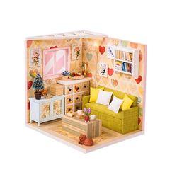 [adico]DIY 미니어처 코지 하우스 - 거실