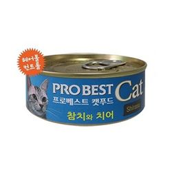 고양이간식 프로베스트 캣푸드 캔 80g(참치와치어)