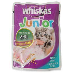 고양이간식 위스카스 키튼 파우치(참치) 85g