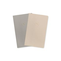 20 HALF DIARY set cream gray