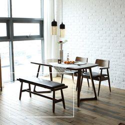 로토 고무나무 원목 2인 식탁 벤치의자 1200