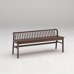 포캔 고무나무 원목 식탁 벤치의자 3인용