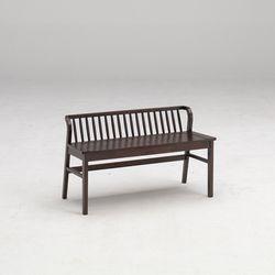 포캔 고무나무 원목 식탁 벤치의자 2인용