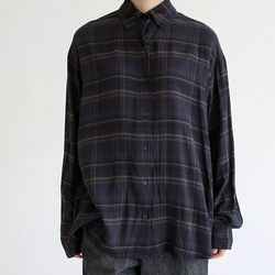 soft texture check shirts (2colors)
