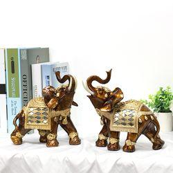 골드브라운 코끼리장식품 OEL001BR 대 2P SET 인테리어소품