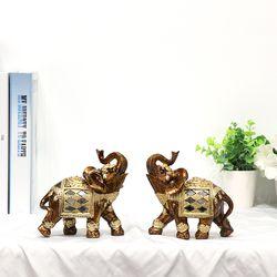 골드브라운 코끼리장식품 OEL001BR 소 2P SET 인테리어소품