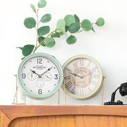 올드타운 원형 탁상시계(2type)