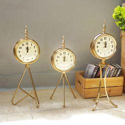 엔틱 골드 삼발이 스탠드 시계(3type)