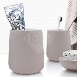 노바 텀블러 크림 욕실용품 칫솔홀더 양치컵
